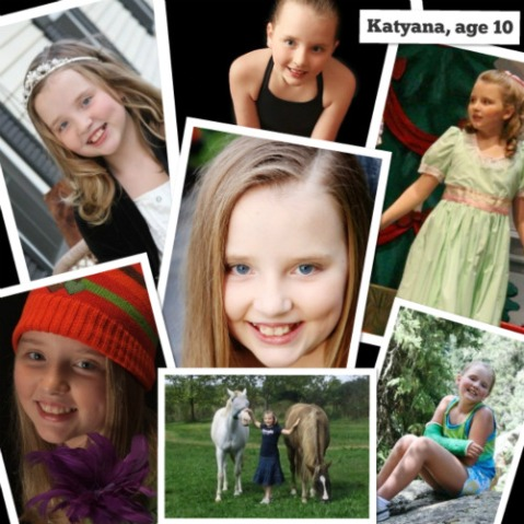2009: Katyana at the age of 10.