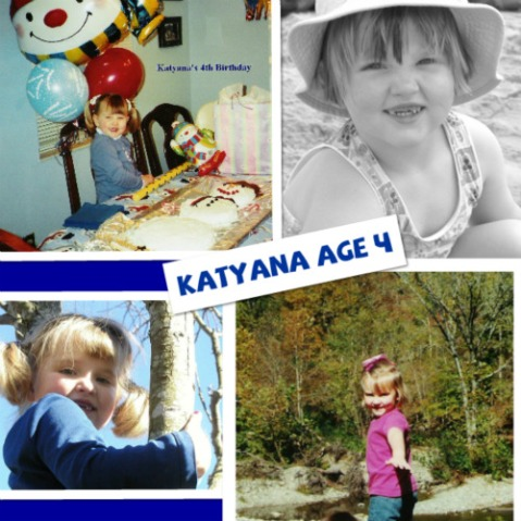 2003: Katyana at the age of 4.