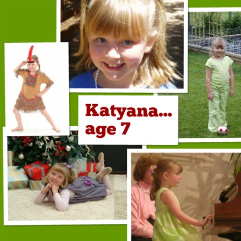 2006: Katyana at the age of 7