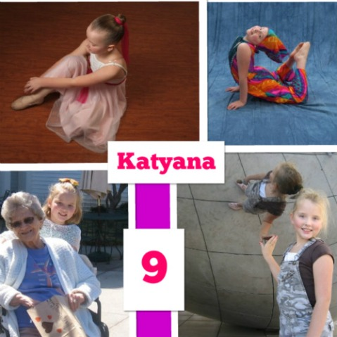 2008: Katyana at the age of 9.